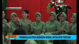 Kodam XIV Hasanuddin Berikan Pembekalan Etika Bermedia Sosial untuk Istri Tentara