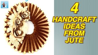 4 handcraft ideas for home decor from jute|Arts and Crafts|Handicraft