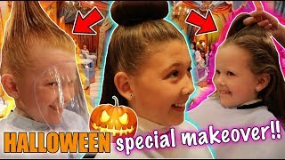 A SPECIAL HALLOWEEN DISNEY MAKEOVER! - BIBBIDI BOBBIDI BOUTIQUE - DISNEY FLORIDA 2017 DAY 15!