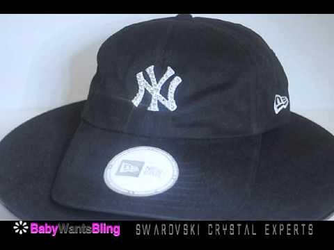 fcdcc3f824e New York Yankees Swarovski Crystal Bling Rhinestone Relaxed Womens New Era Hat  Cap