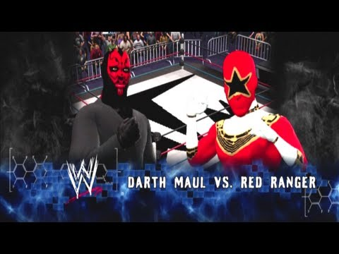 TMN - Darth Maul vs Red Ranger [Atom Weight Tourney Rd.1] - WWE 13