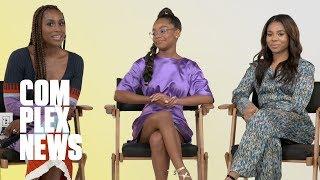 Issa Rae, Regina Hall, and Marsai Martin From 'Little' Play Rap Trivia
