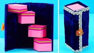 How to Make DIY Jewelry Box   DIY Eco-friendly Best out of Waste Jewelry Organizer/ Holder
