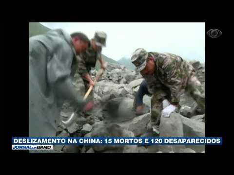 Equipes tentam localizar desaparecidos na China