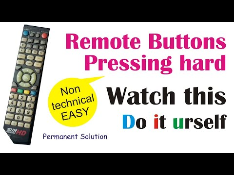 Repair ur REMOTE control BUTTON in just 2 mins -permanent solution