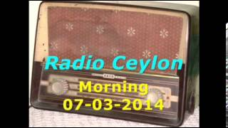 Radio Ceylon 07- 03-2014~Friday Morning~01 Film Sangeet-1