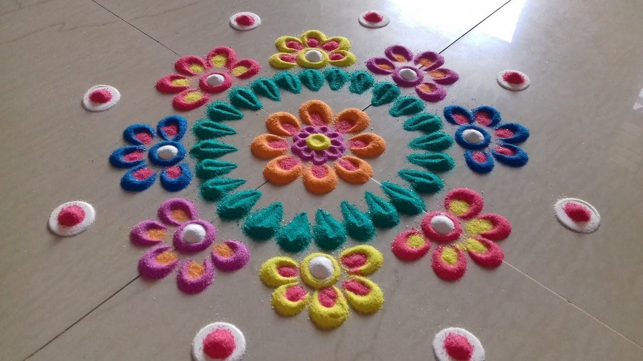 Simple And Easy Rangoli Designs Innovative Rangoli Designs With