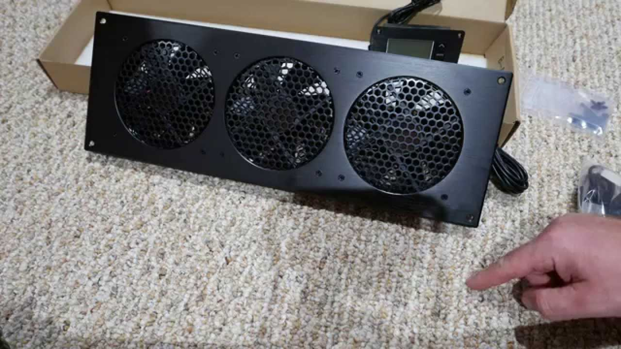 Home Theater Cabinet Fan Airplate T9 Cabinet Fan System Unboxing Youtube