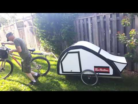 Bike camper trailer project finally finished.