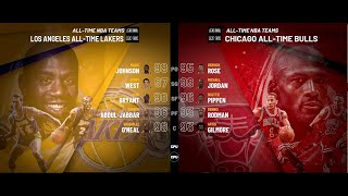 All-Time Los Angeles Lakers vs All-Time Chicago Bulls  | NBA 2K20 PC Full Gameplay