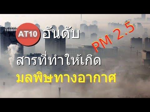 10 อันดับ สารที่ทำให้เกิดมลพิษทางอากาศ