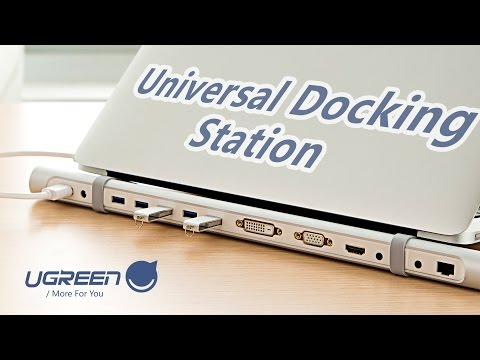 Ugreen USB 3.0 Docking Station, the best way to turn your Surface Pro 4 into work station.
