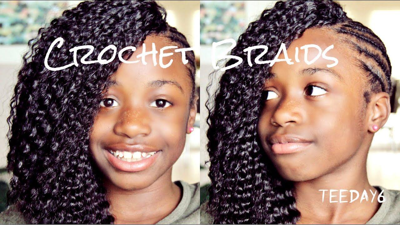 Side Mohawkcrochet Braids Little Girls Edition Youtube