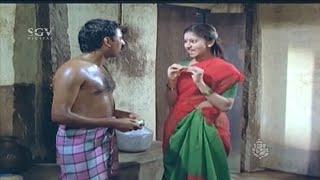 Sudharani and Ramesh Aravind Bathroom Comedy Scenes | Panchama Veda Kannada Movie Comedy Videos