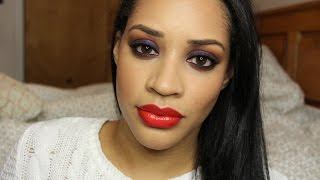 Aaliyah Inspired Jewel Toned Smokey Eye Makeup Tutorial | Collab with @thefancyfaced Thumbnail