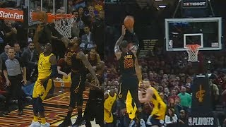 LeBron James Blocks Victor Oladipo Then Hits Game Winner! Cavaliers vs Pacers