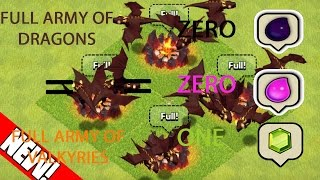 Clash Of Clans Oct 2016 New Glitch (Full Army For Free)