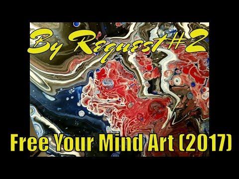Fluid  Art  Acrylic  Painting  ' By  Request  #2 ' Stuart  Wimbles ~  Free  Your  Mind Art  (2017)