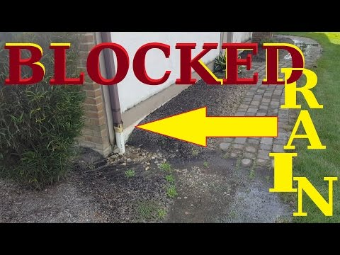 BLOCKED Downspout DRAIN LINE CLEANING underground pipes BLOCKED to street
