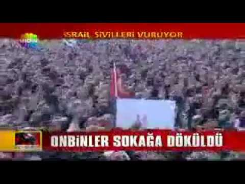 Angry Turkish Mass Protests Over Israeli Terrorism - Gaza Massacre