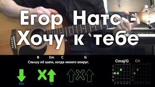 Download Егор Натс - Хочу к тебе / Разбор песни / Аккорды / Бой / Без баррэ Mp3 and Videos