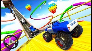 US Police Monster Truck Stunts Impossible Tracks - Stunts Driving Car Games - Android GamePlay