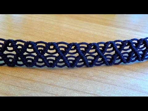 Tutorial Wave Macrame Bracelet Pattern Intermediate Level
