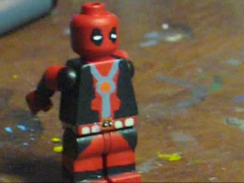 How To Make DEADPOOL In LEGO YouTube - How to make homemade lego decals