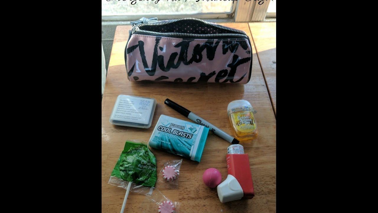 What S In My Pregnancy Emergency Kit Makeup Bag Marcironimakeup