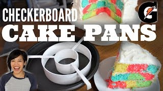 CHECKERBOARD Pan TEST Gatorade Cake Recipe | Does it Work?