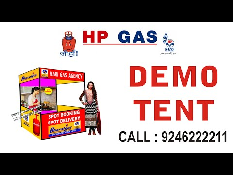 HP Gas Tents supplirts marketing canopy tent for hp gas dealers low price hp gas demo tents