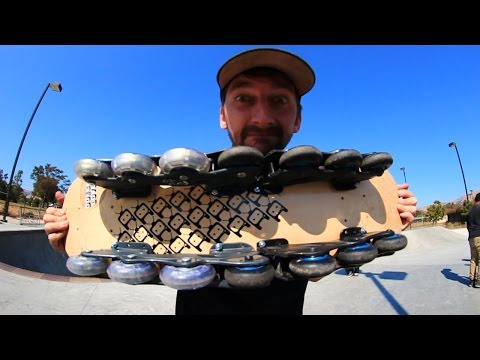 A ROLLERBLADE SKATEBOARD?! | YOU MAKE IT WE SKATE IT EP 24
