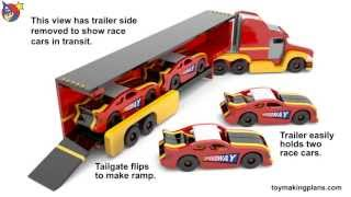 Wood Toy Plans - Speedway Stock Car Race Team