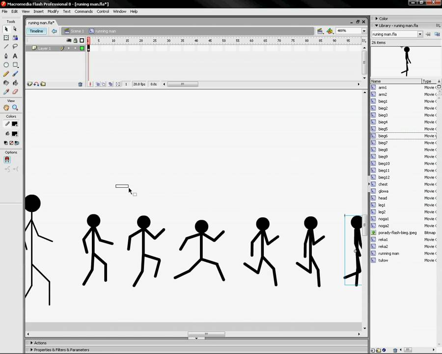 How To Animate Running In Flash | Astar Tutorial