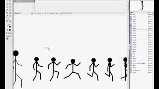 Macromedia Flash 8 tutorial - running man (stickman)(It's another - my own - method for creating running stickman. To see tutorial you have to turn on annotations! Good luck!, 2009-04-19T12:55:06.000Z)