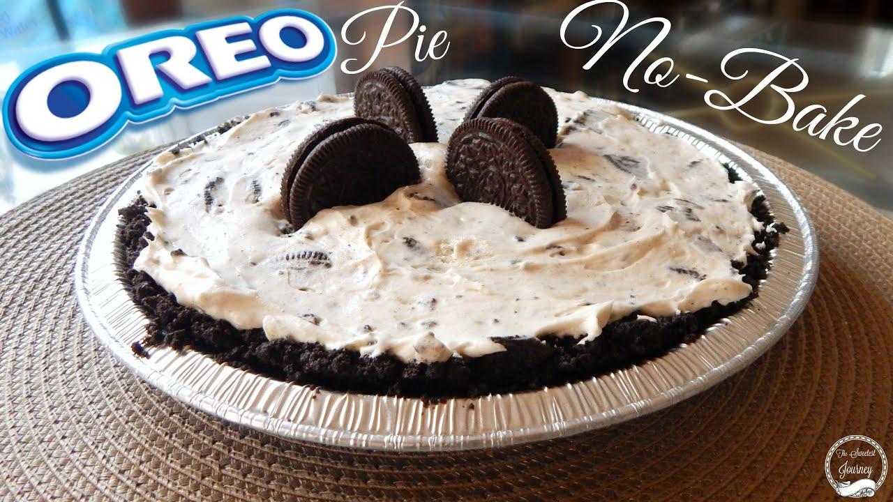 No Bake Oreo Pie Recipe   How To Make an Oreo Pie   The Sweetest Journey