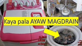 Washing Machine not Draining problem, trouble shooting and repair! TAGALOG