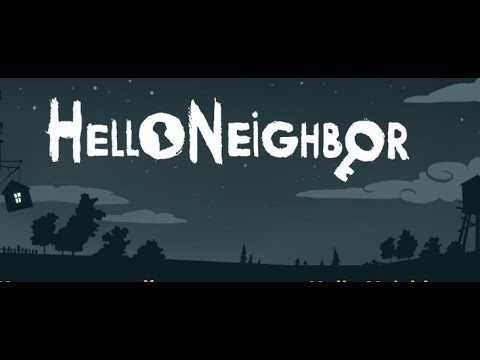 лего мультик привет сосед (Horror game) Hello neightbour