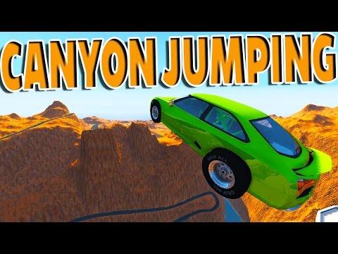 BeamNG Drive - INSANE CANYON JUMPING!