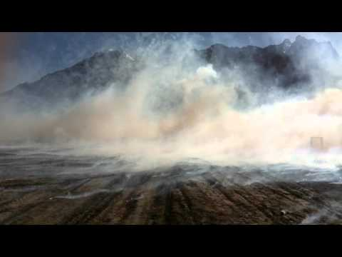 US ARMY Stryker deploying smoke screen