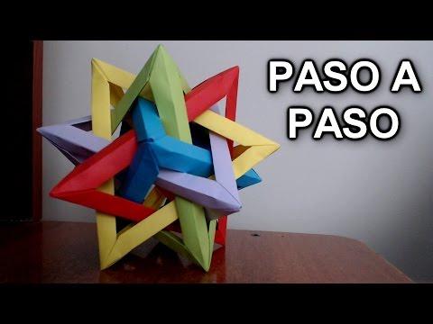 Tetraedro Intersectado De Origami ¡TUTORIAL FACIL! - Intersecting Tetrahedra Origami