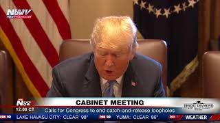 CABINET MEETING: President Trump mentions immigration Thursday (FNN)
