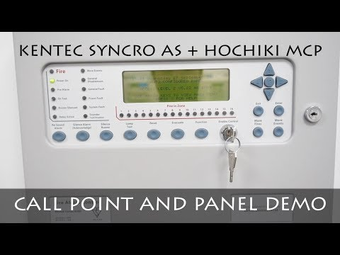 TESTING KENTEC SYNCRO AS PANEL | HOCHIKI MCP | FIRE ALARM DEMO