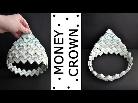 Money CROWN For Graduation | Modular Origami With Beads | Dollar Tutorial DIY