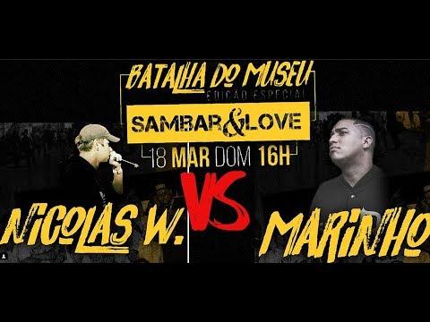 Nicolas Walter RS vs Marinho Batalha de Rap do Museu ft Sambar&Love 2 fase