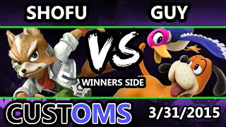 S@X Customs - Shofu (Fox) Vs. Guy (Duck Hunt) SSB4 Tournament - Smash Wii U - Smash 4
