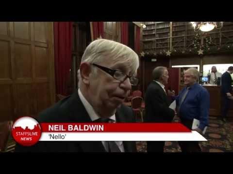 Neil 'Nello' Baldwin receives the freedom of Newcastle Borough