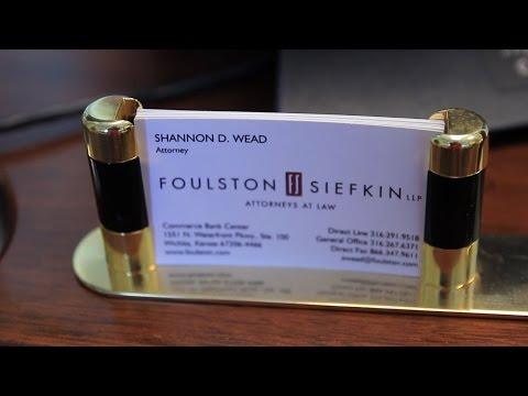Creditors' Rights & Bankruptcy - Shannon Wead, Foulston Siefkin, Wichita Kansas Lawyer