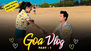 Our First Trip Together❤️ || Goa Vlog part-1 || Mohak Narang ft. Surbhi Rathore