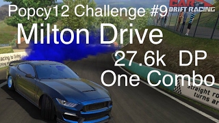 CarX Popcy12 Challenge#9. Milton Drive 27.6k Drift Points. Cobra GT530 Best Ultimate setup